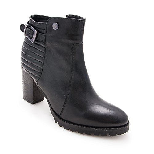 Ankle Spring Boots Mid Woman Ankle Boots for Black Women Heeled Leather Boots Ankle Ankle Boots Zerimar Woman Leather Women's qXavpx7