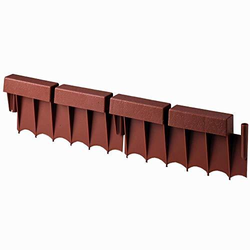 (Suncast BBE10TC 10 Ft Interlocking Brick Border Edging, 12 in Section (20 Pack))