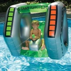StarFighter Inflatable Ride On Squirter Pool Toy (Squirter Starfighter)