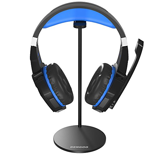 5df9d63c4cb BENGOO Gaming Headset Headphone Stand for PC PS4 Xbox One Turtle Beach  Headset, Aluminum Headset Holder Headphones Display Stand Mount for Desk -  Black (Not ...