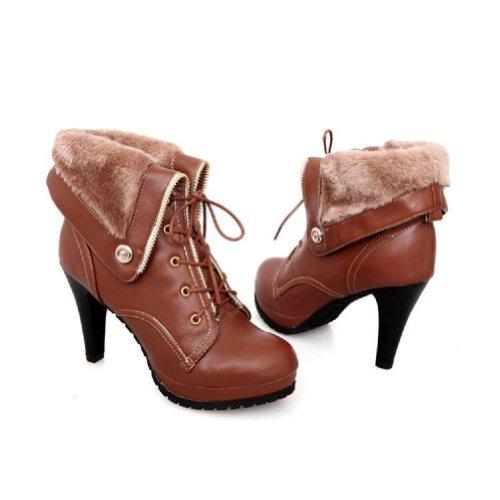 Charm Foot Fashion Womens Platfrom High Heel Western Boots M