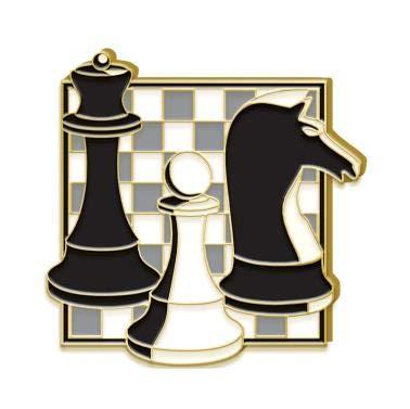 Crown Awards Chess Tournament Award Pins - Chess Lapel Pin Prime (Souvenir Chess)