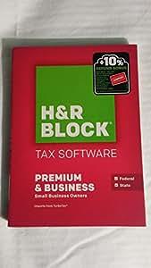 Amazon.com: H&R Block Tax Software Premium & Business 2015 Federal ...