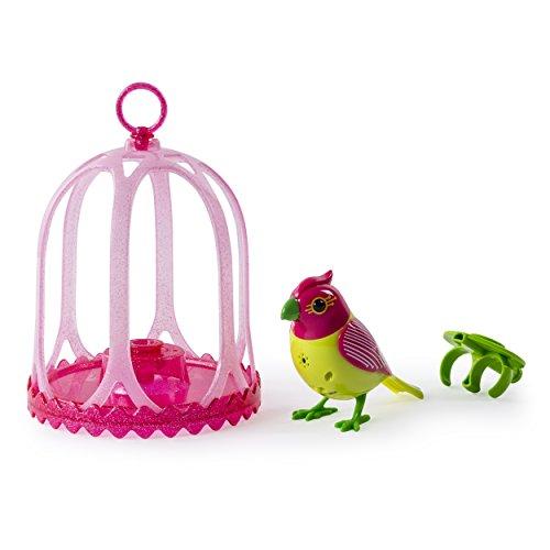Digi Birds Bird with Bird Cage - Pink & Yellow