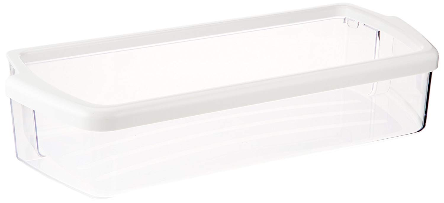 Kitchen Basics 101: W10321304 Replacement for Whirlpool Clear Door Bin With White Band On Top