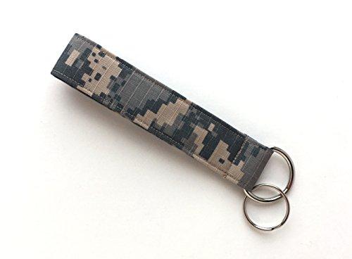 Camouflage Keychain Wristlet - 100% Organic Cotton Camo Fabric Key (Organic Cotton Lanyard)