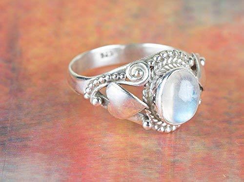 Stylish Rainbow Moonstone Bracelet Sterling Silver Simple Classy