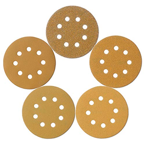 Mestool 58-AP 100 per box include 60 80 120 150 and 220 GRITS (Abrasives 5 Accessories Inch Sanders)