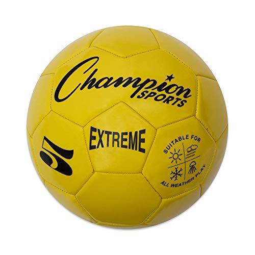 Champion Sports Extreme Series Balón de fútbol Compuesto:Tamaños 3, 4, y 5en Varios Colores, Tamaño 5, Amarillo, Talla...