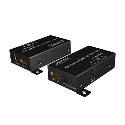 J-Tech Digital Premium Quality HDMI Audio Extractor converter with ARC function, EDID management and IR over HDMI support Ultra HD 4K and 3D