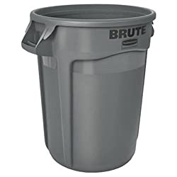 Rubbermaid Commercial Products FG262000GRAY-V Brute Container with Venting Channels, 20 gal, Gray