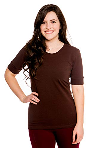 Heirloom Clothing Elbow Sleeve Tees for Women 1/2 Sleeve Dutch Brown Medium