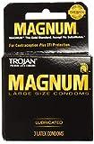 Trojan Magnum Lubricated Condoms, 3 Count