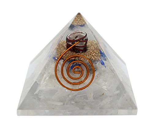 Charged Chakra New Orgone Lapis Lazuli   Selenite Pyramid Crystals Gemstones Copper Metal Mix Reiki Chakra