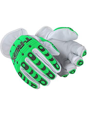 MAGID TRX800L Rebel Series | Cut Level A1 Slip-on Leather Impact Driver Gloves, Size 9/L, (1 Pair)