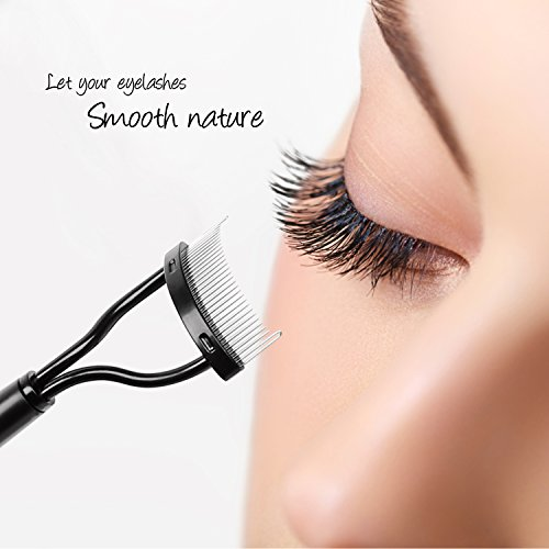 Docolor Eyelash Comb Curlers Makeup Mascara Applicator Eyebrow Grooming Brush Tool ()
