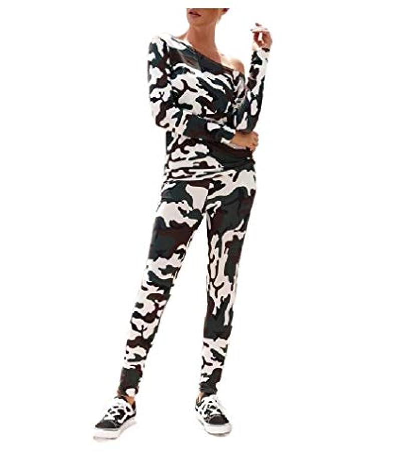 散歩に行く階卑しいcheelot Women's Off Shoulder Floral Print Top and Pocket Skinny Pants 2 Piece Set