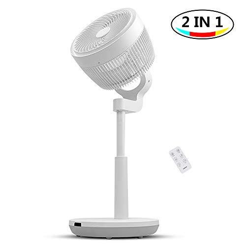 Air Circulator Fan, 3D Oscillating Pedestal Fan with 3 Modes, 4 Variable...