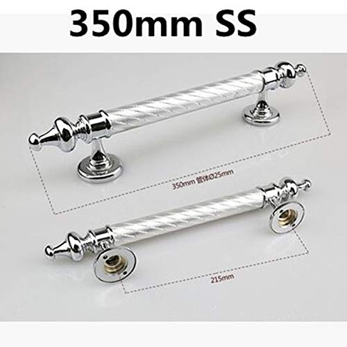350mm modern simple fashion big gate door handles silver black purple unfold install wood door handles home office door pulls - (Color: 350mm SS) by Kasuki (Image #1)