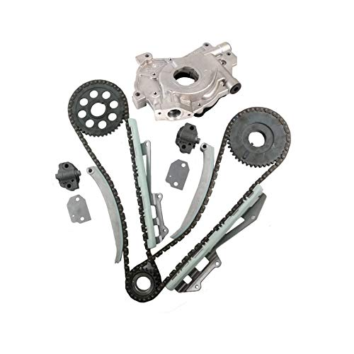 MOCA Timing Chain Kit with Oil Pump for 1996-2002 Ford E-150 F-150 F-250 Expedition Mustang & Mercury Grand Marquis & Lincoln Town Car 4.6L V6 SOHC 16V Vin 6 W - Romeo