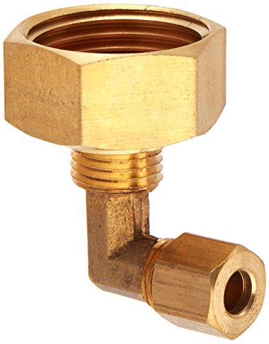 LASCO 17-8387 3/4 Female Garden Hose Thread by 1/4-Inch Compression Brass 90-Degree Ell/Elbow
