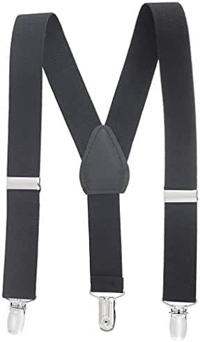 Buyless Fashion Kids And Baby Adjustable Elastic Solid Color 1 inch Suspenders