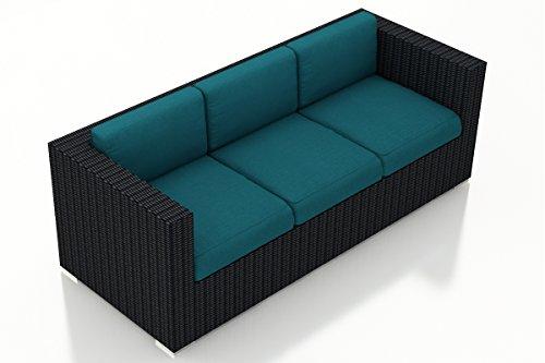 Harmonia Living HL-URBN-CB-S-PC Urbana Sofa, Spectrum Peacock Cushions