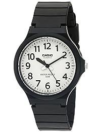 Casio Men's 'Fácil de Leer' de cuarzo negro reloj Casual (maquetas de: Mw240-7bv)