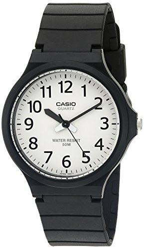 - Casio Men's 'Easy To Read' Quartz Black Casual Watch (Model: MW240-7BV)