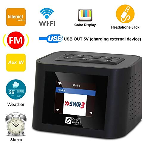 Ocean Digital Wi-Fi Internet Radios WR828F FM Receiver with