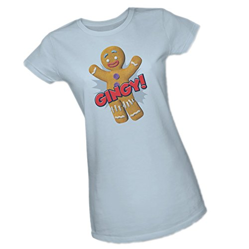 Gingy! -- Shrek Crop Sleeve Fitted Juniors T-Shirt, Small