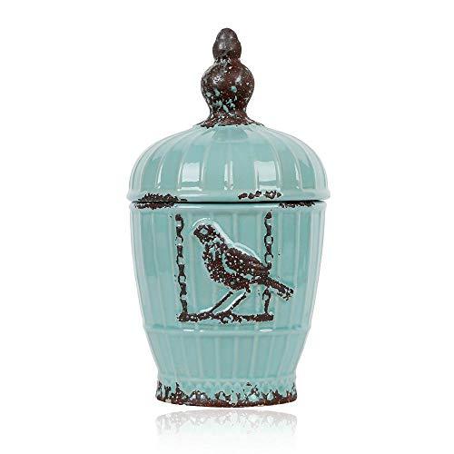 lishirao Storage Tank Glaze ice Crack do Old Crafts Nostalgic Home Ornaments Decoration -