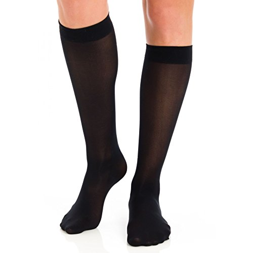 Berkshire Women's Trend Opaque Trouser Socks - Sandalfoot 6423, Black, - Berkshire Store
