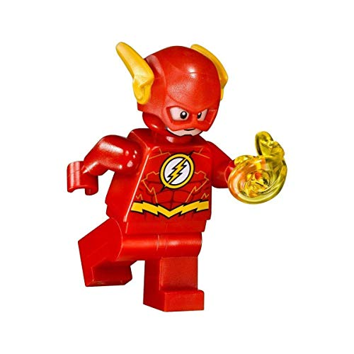 LEGO DC Comics Super Heroes Justice League Minifigure - Flash (with Power Blast) 76098 (Lego Minifigure Kid Flash)