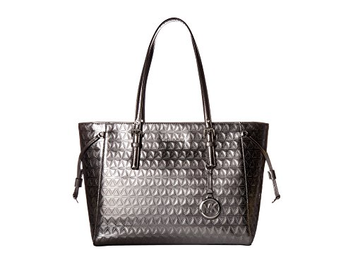 MICHAEL Michael Kors Voyager Medium Multifunction Top-Zip Tote (Gunmetal)