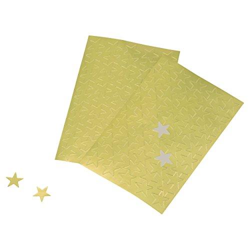 Advantus autoadhesivo etiquetas de) estrellas de aluminio, 440, 5colores surtidos (z06007), Papel dorado
