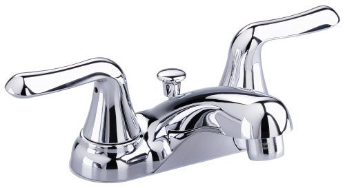 American Standard Colony Soft Tub - American Standard 2275.500.002 Colony Soft Double-Handle Centerset Lavatory Faucet with Lever Handles and Drain, Chrome