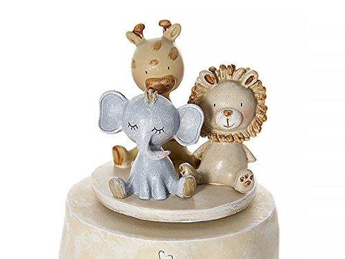 Safari Animal Music Box Baby Boy Girl Unisex Christening