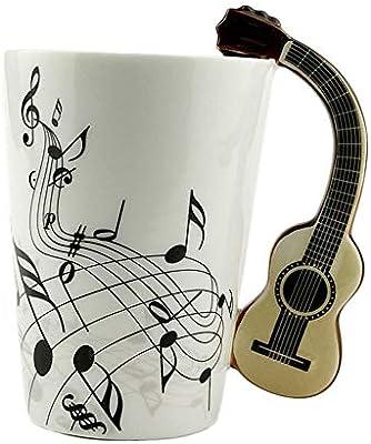 DGdolph Taza de cerámica Taza Instrumento Musical Estilo de Nota ...