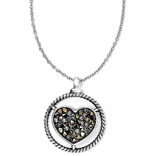 Brighton Crystal Rocks Heart Swarovski Crystal Silver Plated - Heart Rock Crystal
