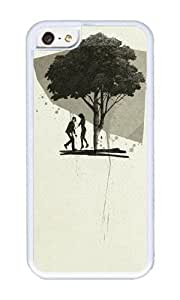Apple Iphone 5C Case,WENJORS Cute Down Soft Case Protective Shell Cell Phone Cover For Apple Iphone 5C - TPU White