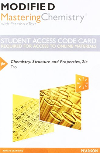 Chemistry Struct+Prop. Modified Access