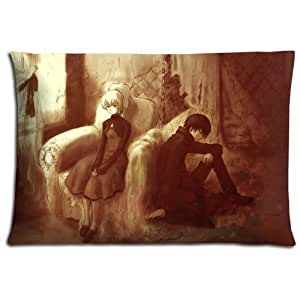 """16x24 16""""x24"""" 40x60cm home pillow cover cases Cotton Polyester Standard-sized Comfort Darker than Black"""