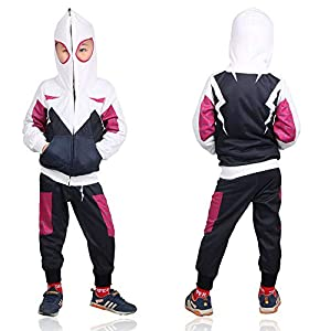 - 419a8iQdznL - Kids Spider-Verse Miles Morales Gwen Stacy Noir Peter Cosplay Costume