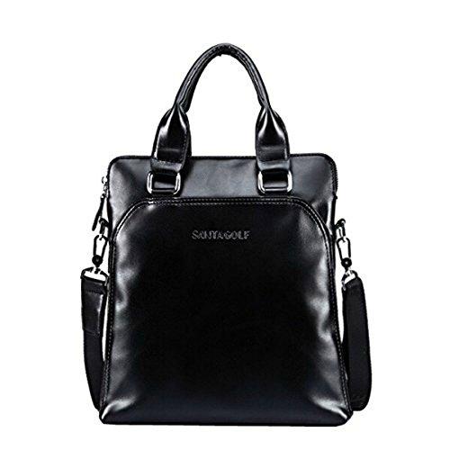 Black Mens Leather Business Black Mens Bag Cvnq55