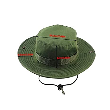 Amazon.com   Vrcoco Summer Boonie Hat Wide Brim Bucket Hat Lightweight  Casual Cowboy Camouflage Fishing Golf Hat Sun Hat UPF50+ for Men and  Women(1pc a22bda3b16c