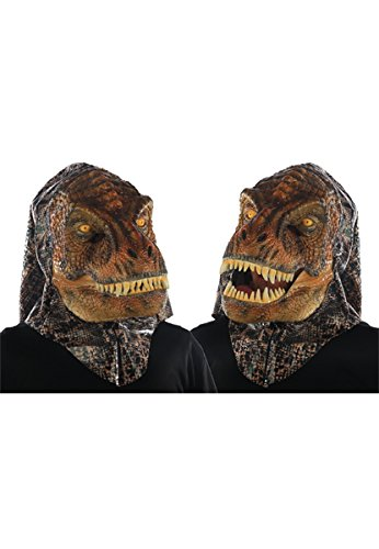 Animated Animal T Rex Plastic Face ()