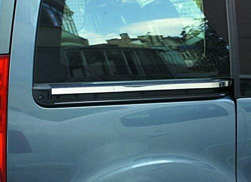 PARTNER/PARTNER TEPEE/BERLINGO - Embellecedor para puerta trasera de acero inoxidable cromado (2 unidades): Amazon.es: Coche y moto