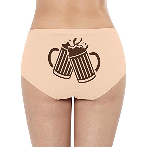 Pretty Women Mid/Low Waist Underwear Beer Silhouette Cheers Pretty Tanga Briefs