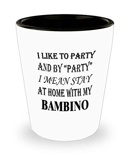 My Cat Bambino Gifts White Ceramic Shot Glass - I Mean Stay At Home - Best Inspirational Gifts and Sarcasm Pet Lover